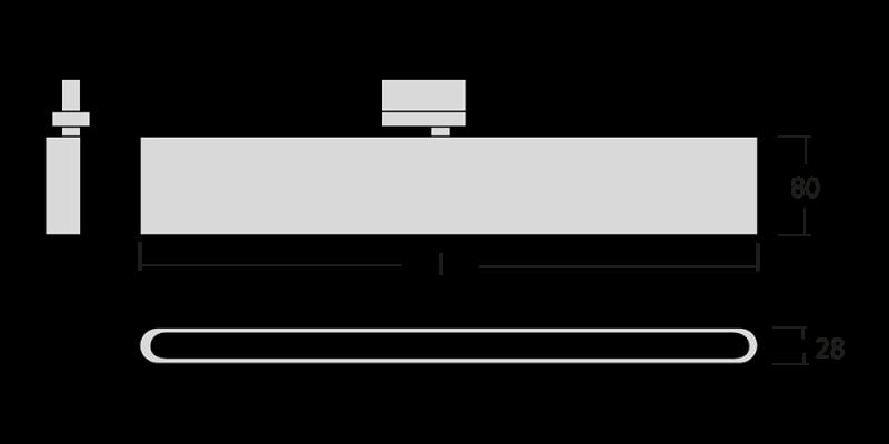 Medidas Proyector led lineal de carril