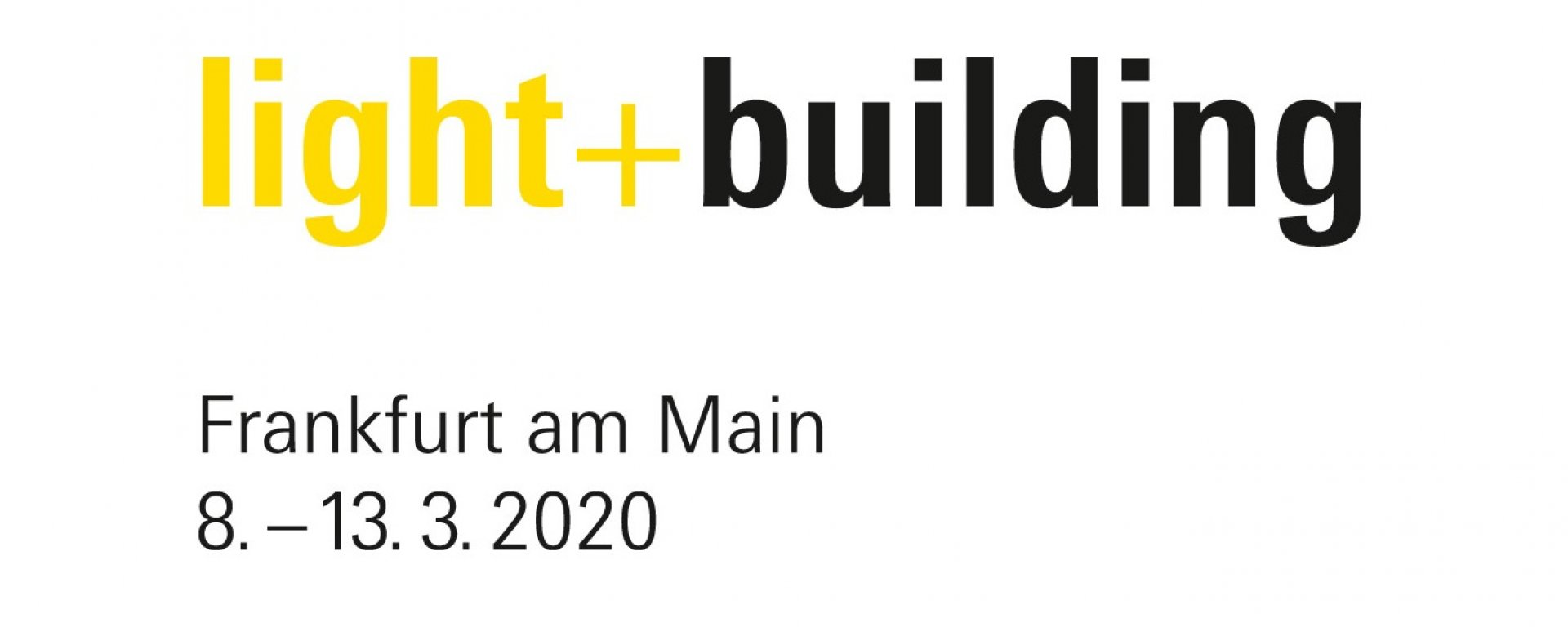Logo Light + Building mit Datum